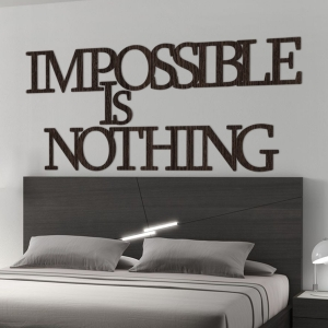 Impossible is nothing - motywacyjny napis 3D na ścianę