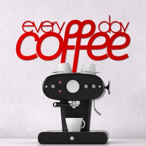 Everyday coffee - napis 3D