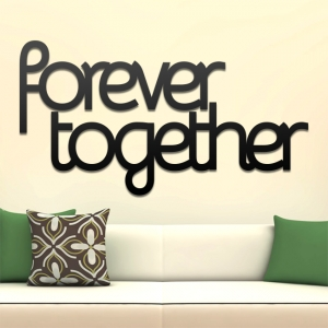 Forever together - napis 3D