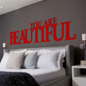 You are beautiful - napis 3D
