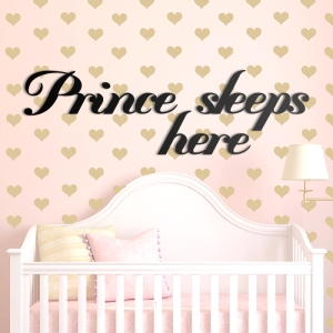 Prince sleeps here - napis 3D