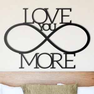 Love you more - napis 3D