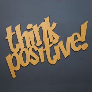 Think positive - napis 3D
