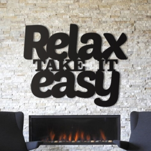 Relax take it easy - napis 3D