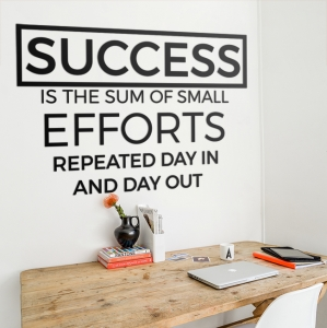 Success is the sum of small efforts - napis 3D