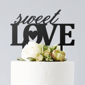 Sweet Love - topper na tort weselny
