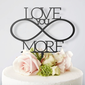 Love You More- topper na tort ślubny
