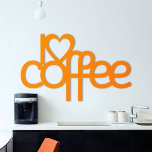 I love coffee - napis 3D