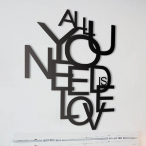 All you need is love - napis 3D na ścianę