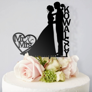 Mrs & Mr para - topper na tort