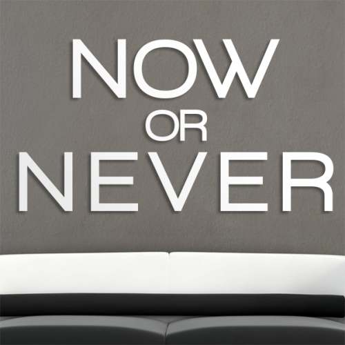 Now or never - napis 3D